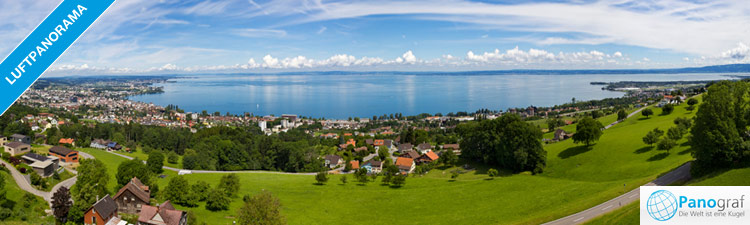 Bodensee - zoombares Luftpanorama am Rorschacherberg