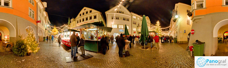 Weihnachtsmarkt Feldkirch Panorama