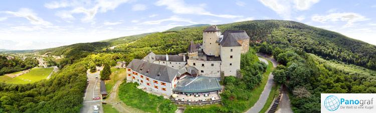 Burg Lockenhaus (Burgenland) Luftpanoramafoto