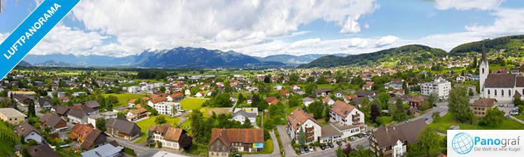 Luftpanorama mit Oktokopter in Weiler (Rheintal)