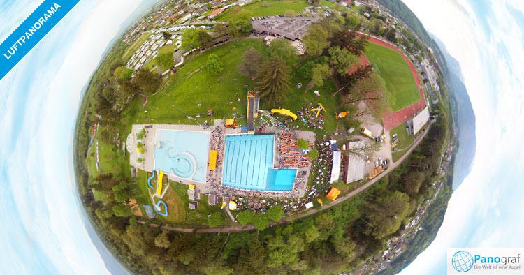 360° Luftpanorama Corona Sprungtag in Feldkirch