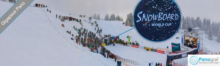 GigaPixel FanTag-Panorama beim Snowboard Weltcup im Montafon