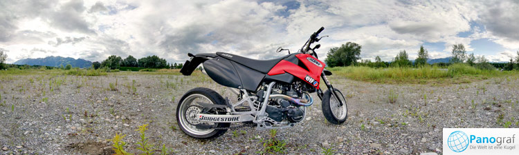 Motorrad-Panorama