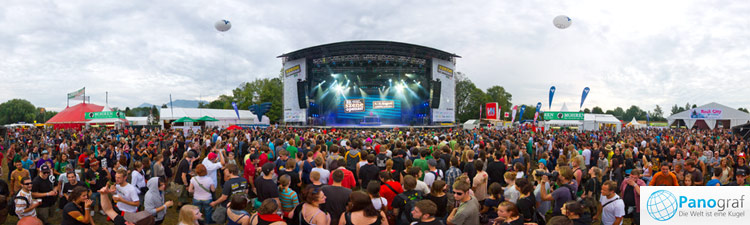 Szene Open Air Lustenau Panorama